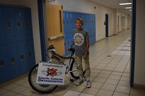 3rd Quarter Perfect Attendance Bike Winner